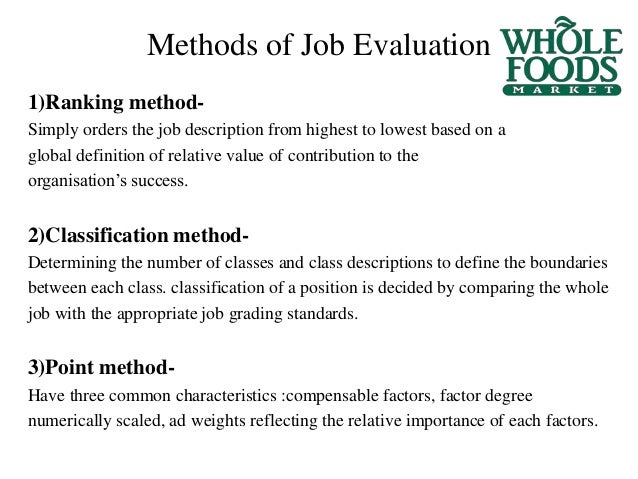 john mackey 3 methods of job - Food Preparer Job Description