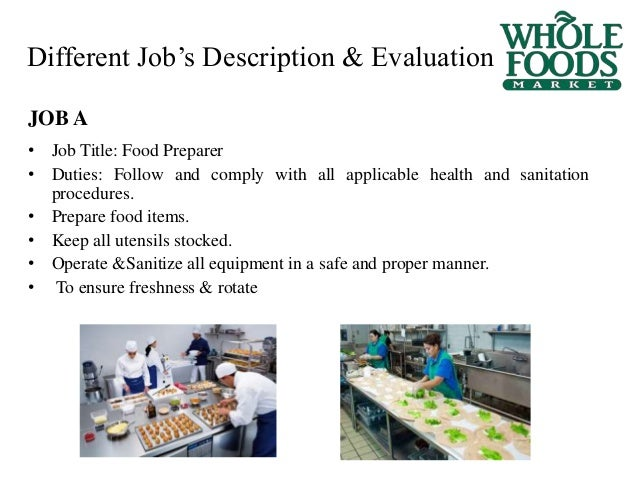 9 different jobs description evaluation job title food preparer - Food Preparer Job Description