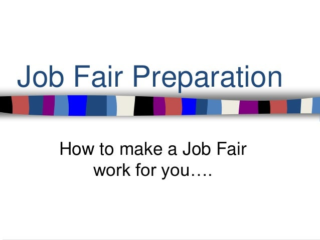 how to work a job fair