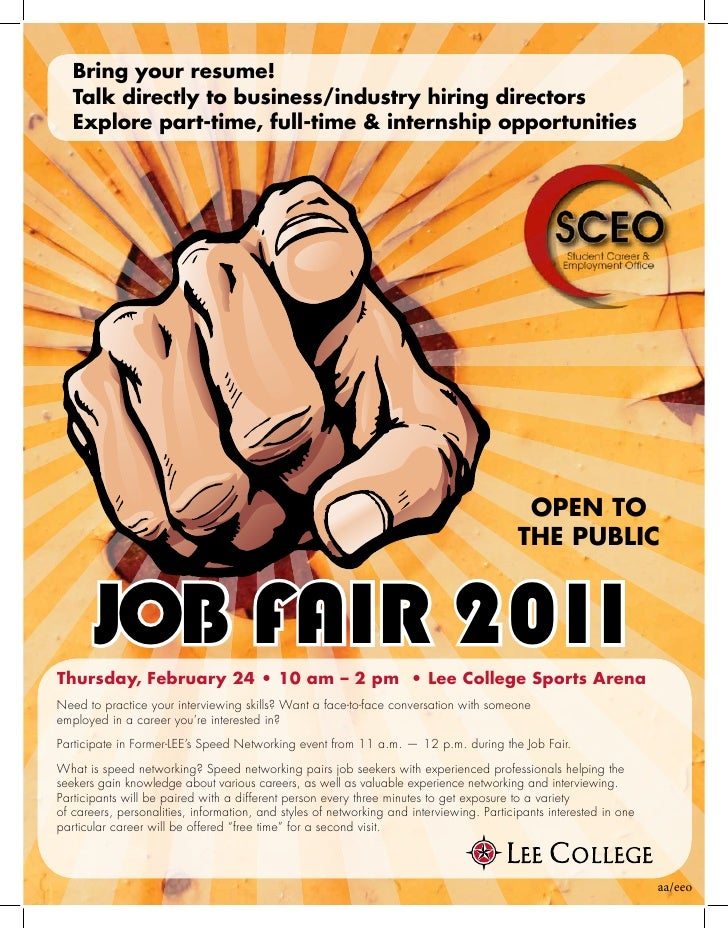 job fair flyer 2011