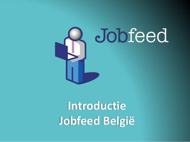 Introductie Jobfeed België