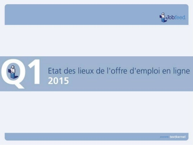Nombres d'offres d'emploi