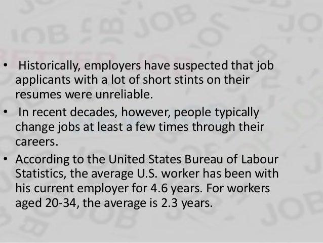 4. Reasons 1. Job Hopping ...  Job Hopping Resume