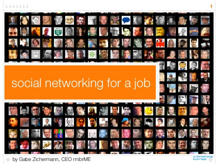 1     social networking for a job                                      cc licensed image by Gabe Zichermann, CEO rmbrME   ...