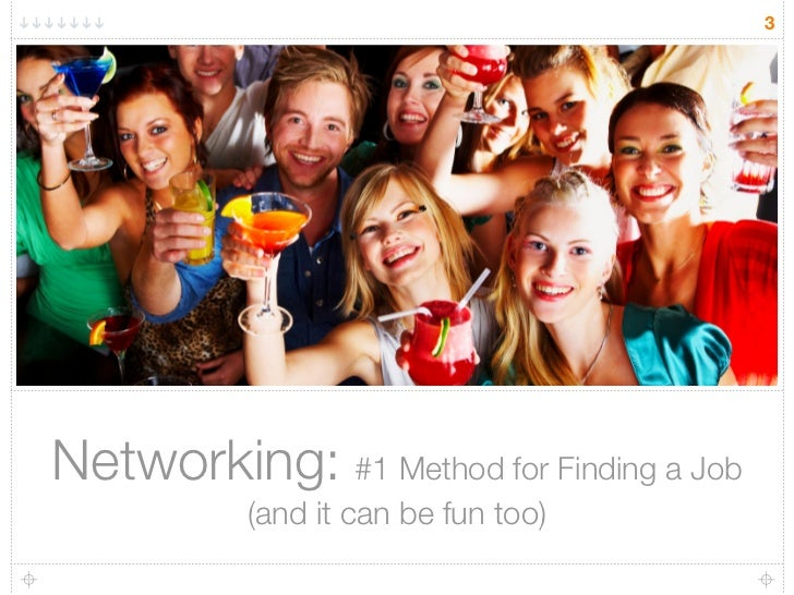 3     Networking: #1 Method for Finding a Job            (and it can be fun too)
