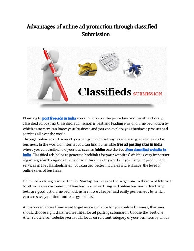 Instant approve classified sites for local ad posting in india