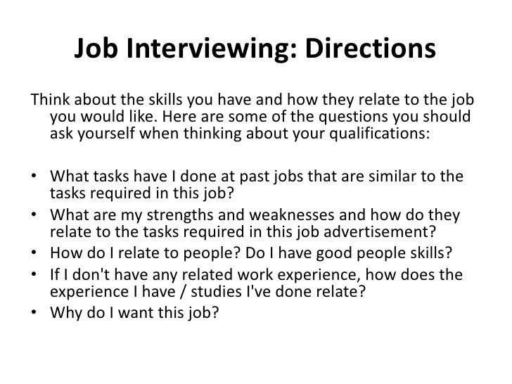 essays about job interview