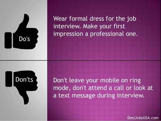 job interview do u0026 39 s and dont u0026 39 s