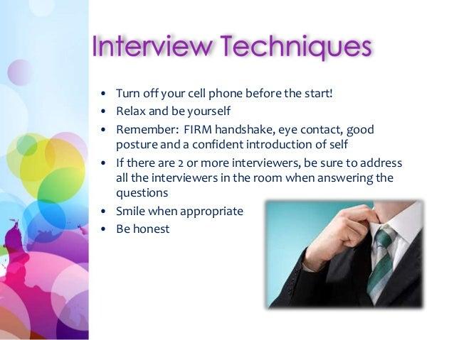 essay on interview techniques