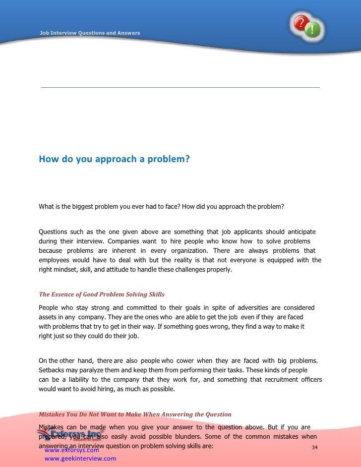 37. Www.exforsys.com Www.geekinterview.com 34 Job Interview Questions ...