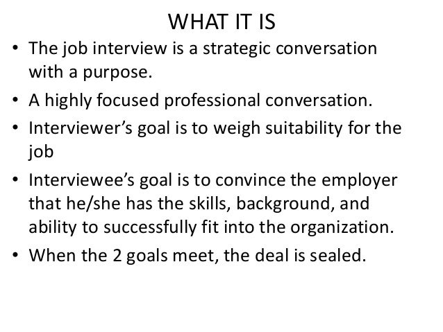 what is a meet and deal panel interview