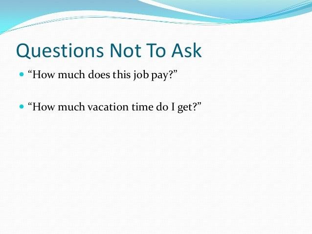 Job interviews 101