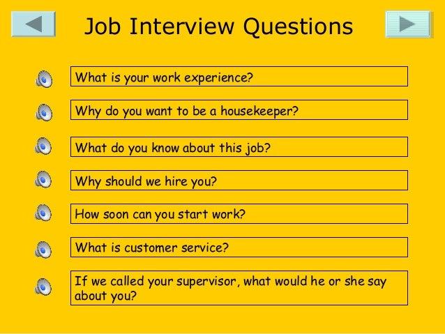 Job Interview ...