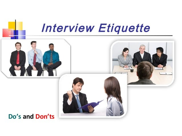 job interview etiquette
