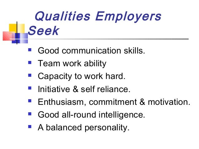 good job qualities