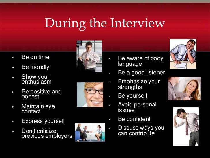 Job Interview Slide Show