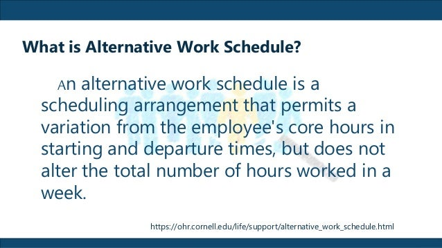 Job, Job Design And Alternative Work Schedule Reported By Kurt B. Cat…