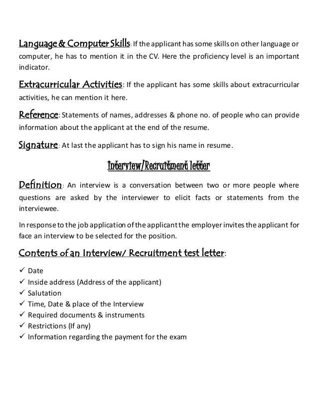 resume definition job