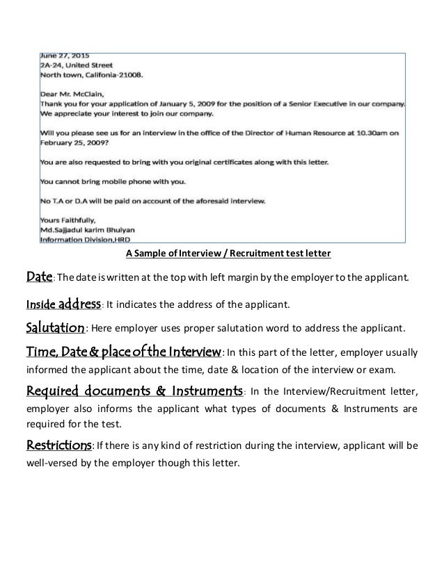 11 a sample of interview recruitment - Resume For Interview Sample