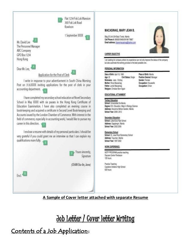 Coverletter Attachted With Separate Resume; 6.