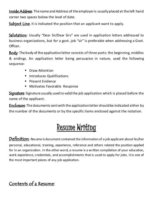 SlideShare  Resume Letters