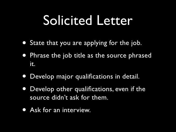 Job Letters Ppt