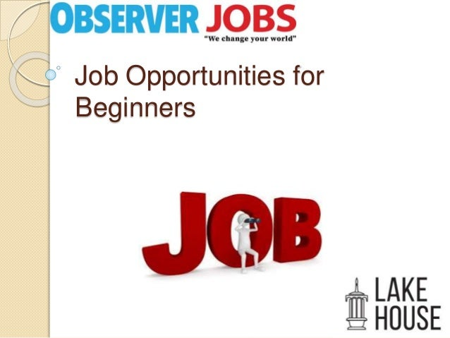 Job Opportunities for Beginners