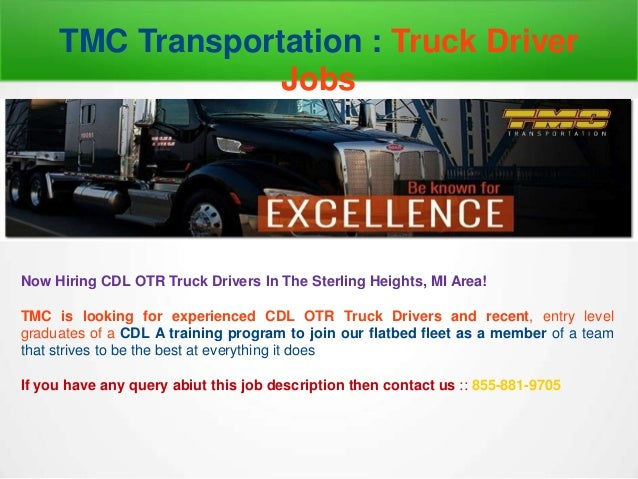 Job opportunities for truck drivers