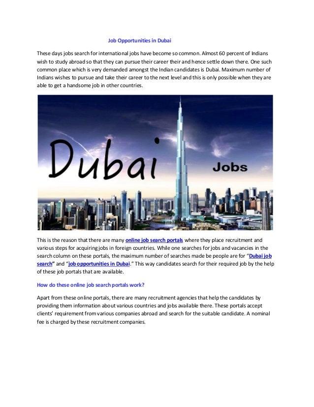 Job opportunities in Dubai | Usdjob