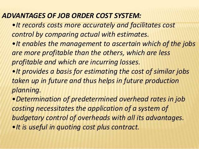Job Order Cost System