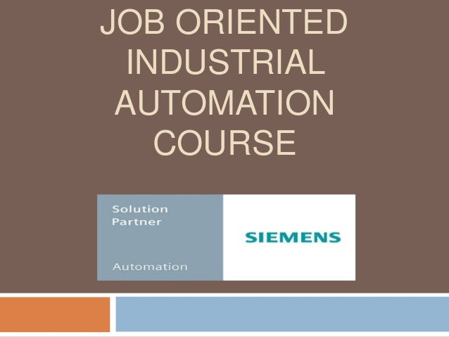 Job Oriented Industrial Automation Course