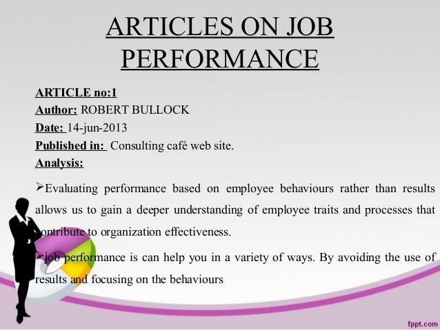 Job performance main