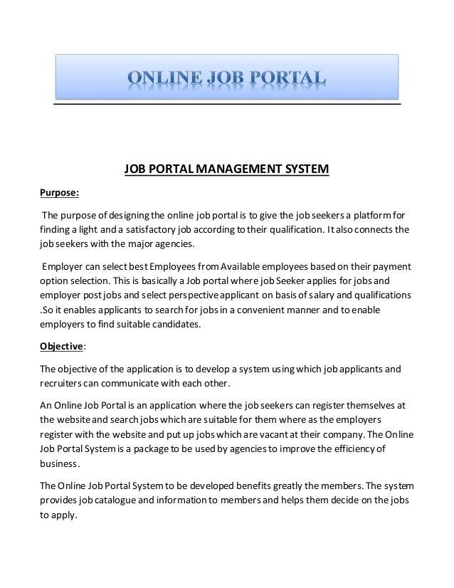 job portal project documentary