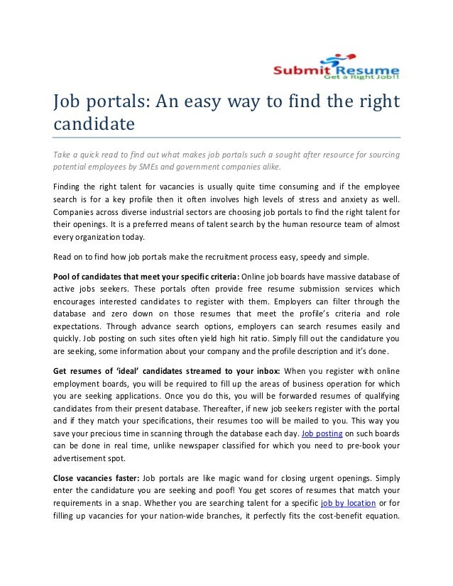 Job portals: An easy way to find the right candidate