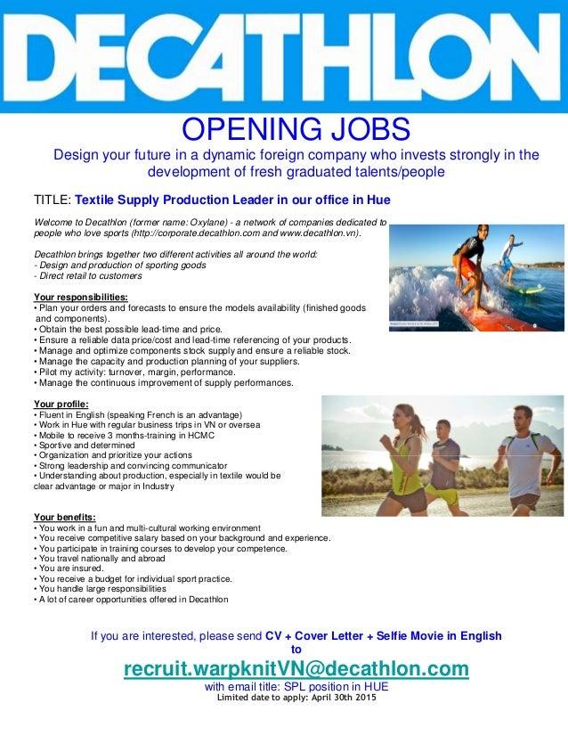 Decathlon job dating