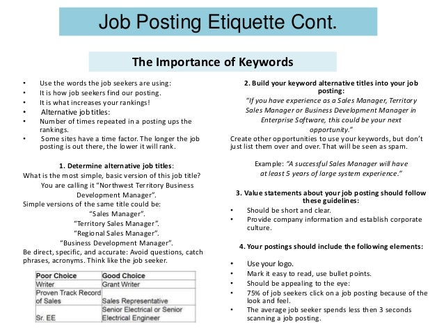 sales job posting examples