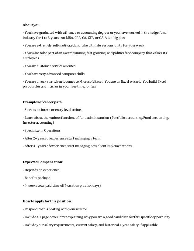 Hedge Fund Accountant Sample Resume] Professional Hedge Fund ...