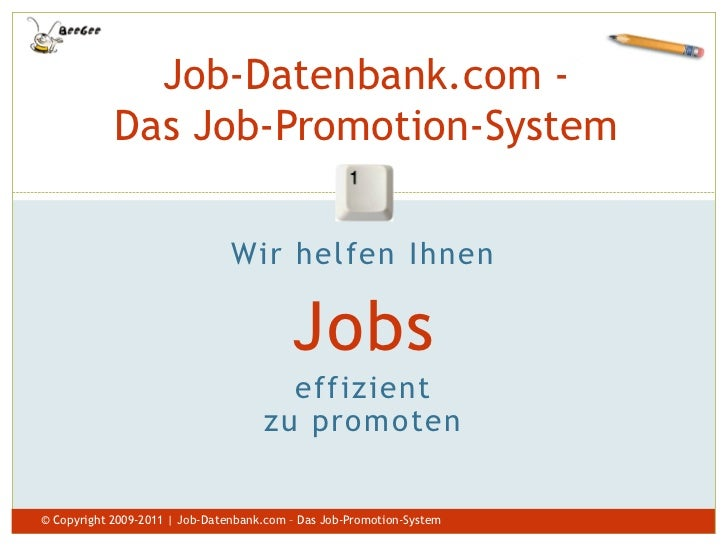 Job-Datenbank.com -            Das Job-Promotion-System                                                      1            ...