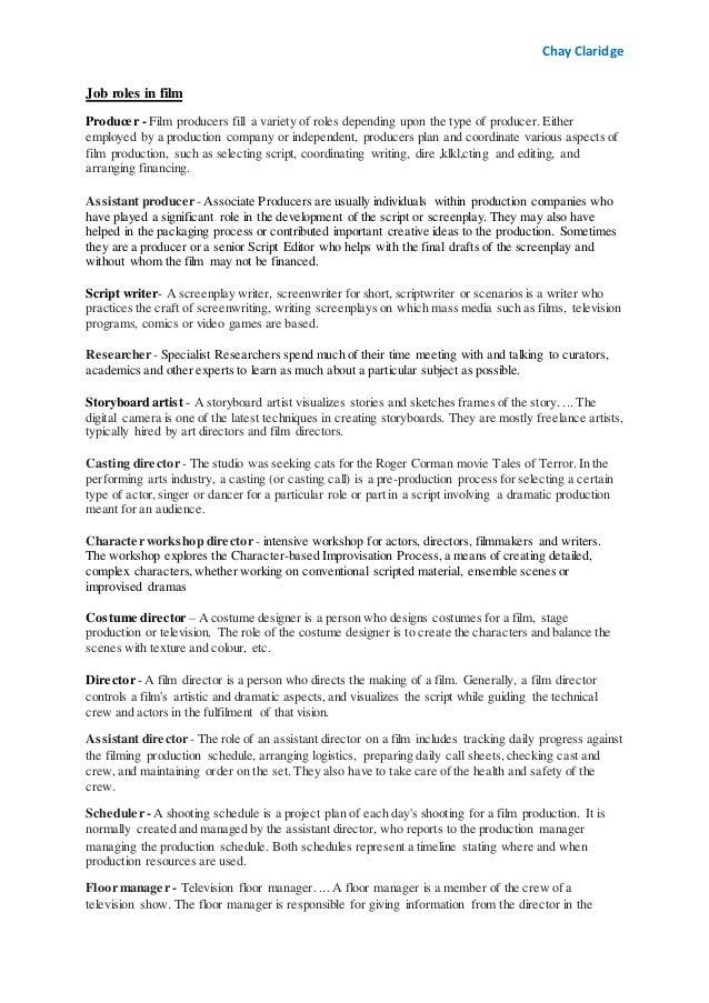 Job role definition