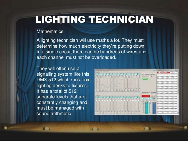 LIGHTING TECHNICIAN Mathematics ... & Singers and Lighting Technicians - Two job roles in the music industry azcodes.com