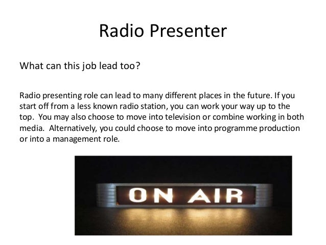 Job Roles In The Radio Industry