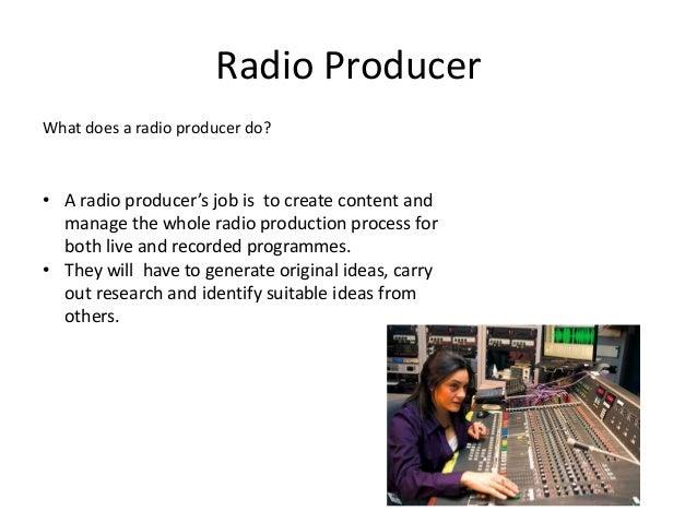 Job Roles In The Radio Industry