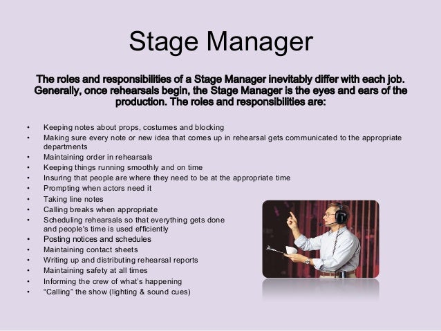 stage manager ashleigh 3 - Responsibilities Of A Production Manager