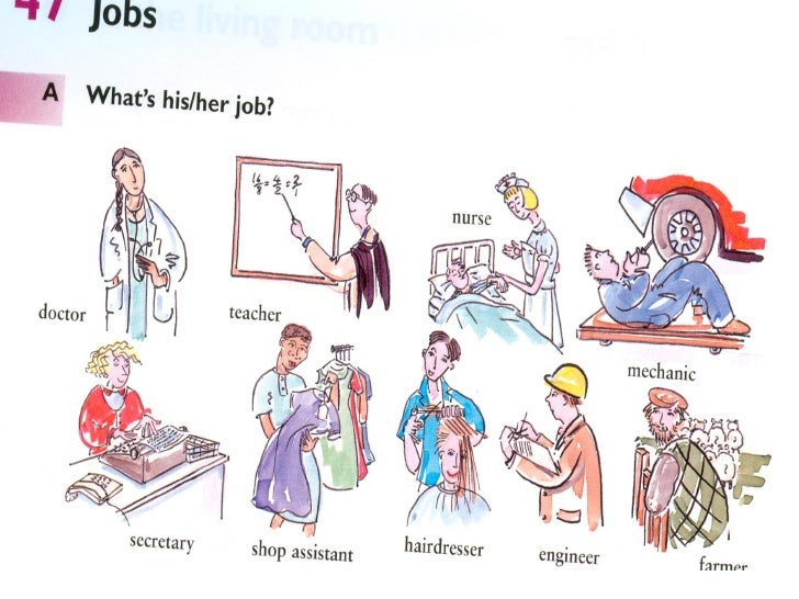 Exercises47.1 Where do they work?1 A teacher works in a school/college/university2 A doctor __________________________    ...
