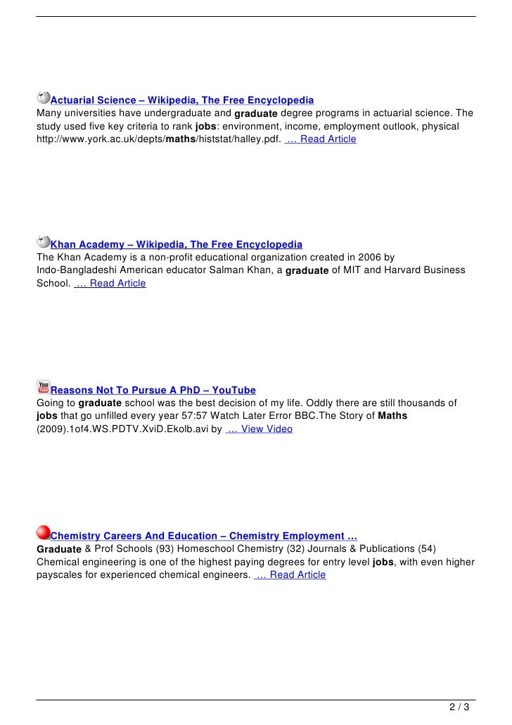 Jobs For Maths Graduate