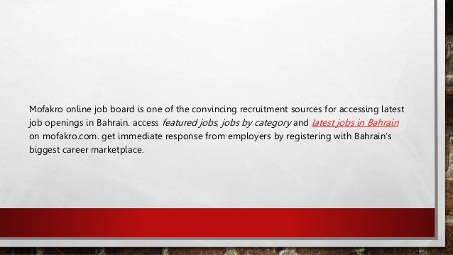Jobs in-bahrain