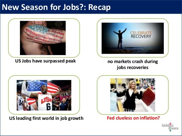 New Season for Jobs?: Recap US leading first world in job growth Fed clueless on inflation? no markets crash during jobs r...