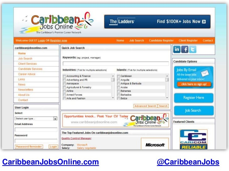 12 Caribbean Job Websites for Job Hunters, Recruiters and Employers.