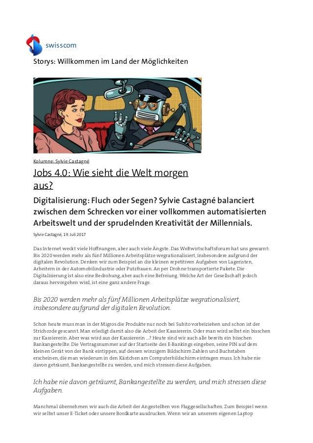 Jobs 4.0 wie sieht die welt morgen aus»