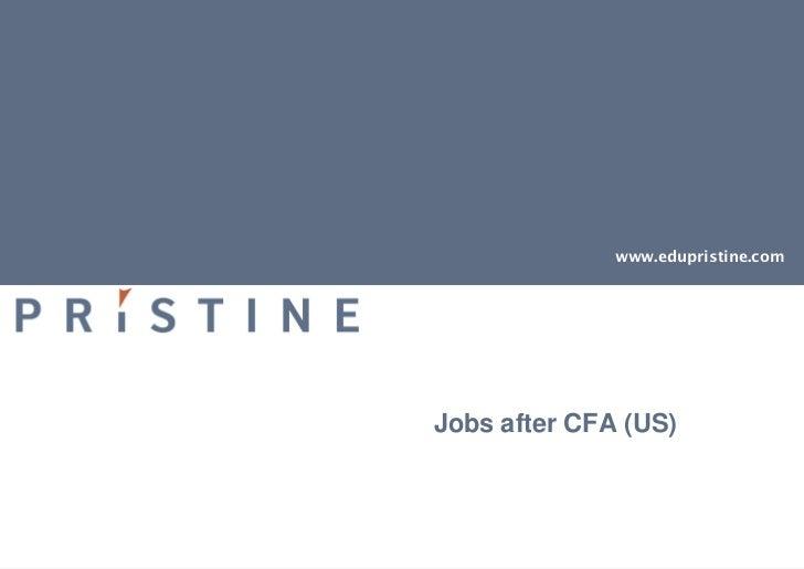 www.edupristine.comJobs after CFA (US)